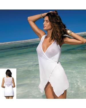 Tunika za plažo Marko Libby Bianco, bela